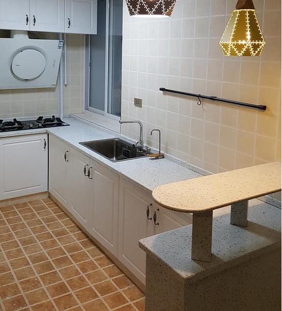 厨房切砖橱柜装修案例