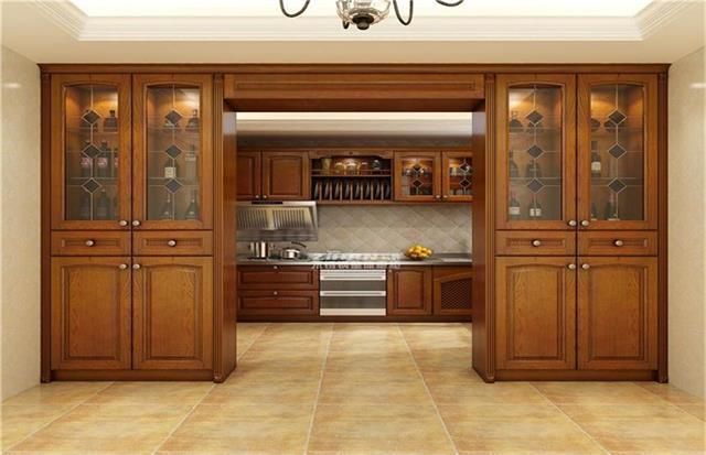 橱柜定制台面的摆放类型保证厨房活动空间的自由度